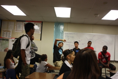 Cerritos High School Varsity Football players stunned by annoucement