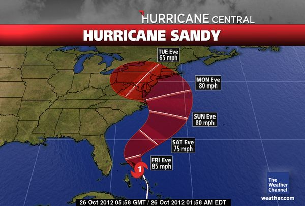 Hurricane Sandy Could Cost US Taxpayers $1 Billion Dollars in Damages